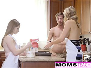 MomsTeachSex - wild mom Tricks teen Into molten three way