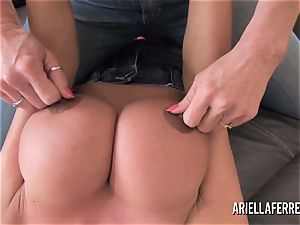 humungous breast playtime with Ariella Ferrera and Deauxma