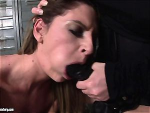 Kathia Nobili lets a super hot nymph deepthroat her cord on
