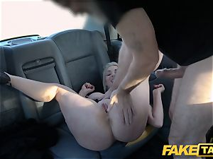 fake taxi blonde milf Victoria Summers humped in a cab