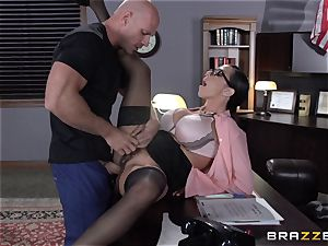 Warden Ariella Ferrera plows her favourite prisoner
