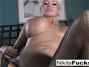 point of view porking Nikita Von James with a giant cock