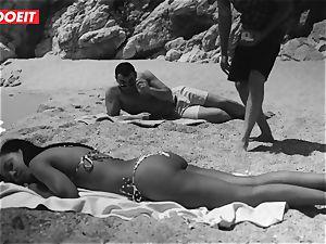 LETSDOEIT - steamy dark-hued teen boned rigid At The Beach