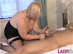 grandmother enjoys a huge firm manstick in her cootchie