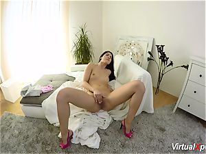 fur covered chesty Angel Wicky on web cam