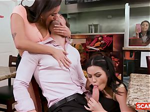 SCAM ANGELS - Karlee Grey and Gina Valentina group bang-out