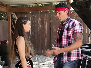 Cassidy Klein gives her stud a goodbye smashing